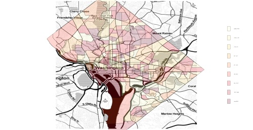 Heatmapping Washington, DC Rental Price Changes using OpenStreetMaps